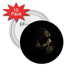 Skull Fantasy Dark Surreal 2 25  Buttons (10 Pack)