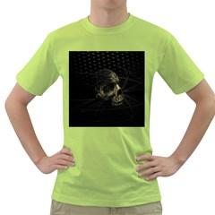 Skull Fantasy Dark Surreal Green T Shirt