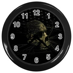 Skull Fantasy Dark Surreal Wall Clocks (Black)
