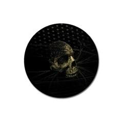 Skull Fantasy Dark Surreal Magnet 3  (round)