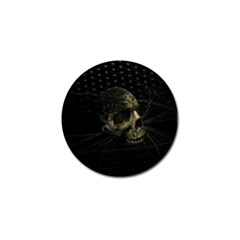 Skull Fantasy Dark Surreal Golf Ball Marker (4 Pack)