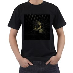 Skull Fantasy Dark Surreal Men s T Shirt (black) (two Sided)
