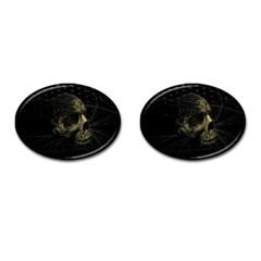 Skull Fantasy Dark Surreal Cufflinks (oval)