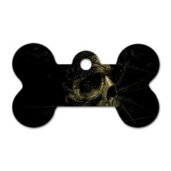 Skull Fantasy Dark Surreal Dog Tag Bone (one Side)