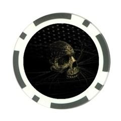 Skull Fantasy Dark Surreal Poker Chip Card Guard