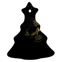 Skull Fantasy Dark Surreal Christmas Tree Ornament (two Sides)