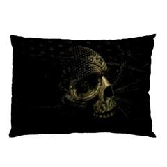 Skull Fantasy Dark Surreal Pillow Case (two Sides)