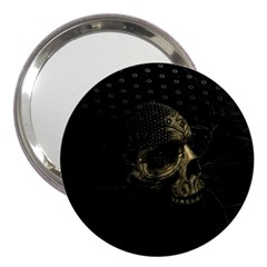 Skull Fantasy Dark Surreal 3  Handbag Mirrors
