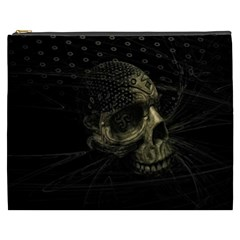 Skull Fantasy Dark Surreal Cosmetic Bag (xxxl)