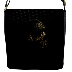 Skull Fantasy Dark Surreal Flap Messenger Bag (s)