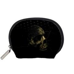 Skull Fantasy Dark Surreal Accessory Pouches (small)