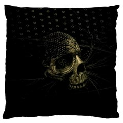 Skull Fantasy Dark Surreal Standard Flano Cushion Case (two Sides)