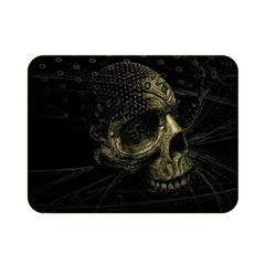 Skull Fantasy Dark Surreal Double Sided Flano Blanket (mini)