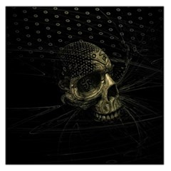 Skull Fantasy Dark Surreal Large Satin Scarf (square)