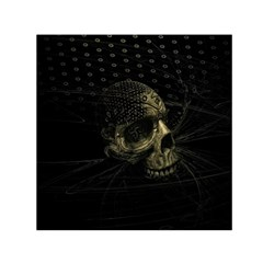 Skull Fantasy Dark Surreal Small Satin Scarf (square)