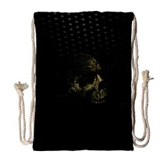 Skull Fantasy Dark Surreal Drawstring Bag (large)