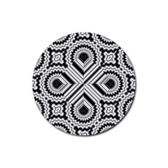Pattern Tile Seamless Design Rubber Round Coaster (4 Pack)