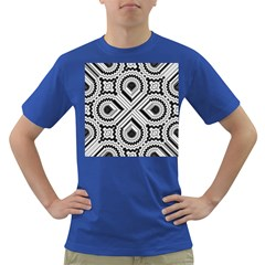 Pattern Tile Seamless Design Dark T Shirt