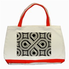 Pattern Tile Seamless Design Classic Tote Bag (Red)