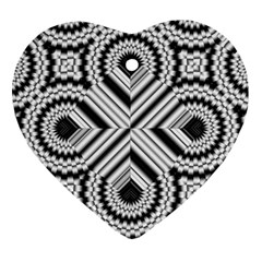 Pattern Tile Seamless Design Heart Ornament (two Sides)