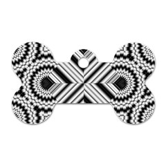 Pattern Tile Seamless Design Dog Tag Bone (One Side)