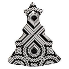 Pattern Tile Seamless Design Christmas Tree Ornament (two Sides)