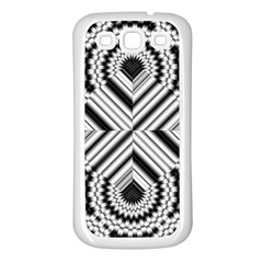 Pattern Tile Seamless Design Samsung Galaxy S3 Back Case (white)