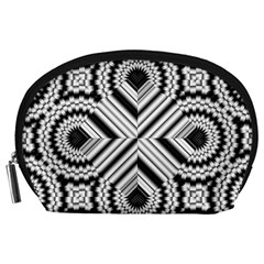 Pattern Tile Seamless Design Accessory Pouches (large)