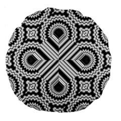 Pattern Tile Seamless Design Large 18  Premium Flano Round Cushions