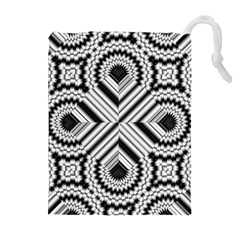 Pattern Tile Seamless Design Drawstring Pouches (Extra Large)