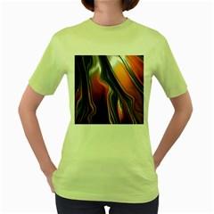 Fractal Structure Mathematic Women s Green T Shirt