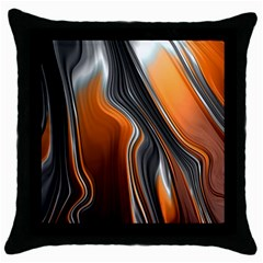 Fractal Structure Mathematic Throw Pillow Case (black)