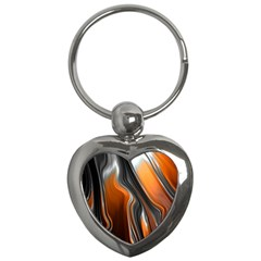 Fractal Structure Mathematic Key Chains (heart)