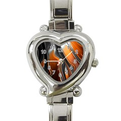 Fractal Structure Mathematic Heart Italian Charm Watch