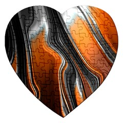 Fractal Structure Mathematic Jigsaw Puzzle (heart)