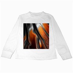 Fractal Structure Mathematic Kids Long Sleeve T Shirts