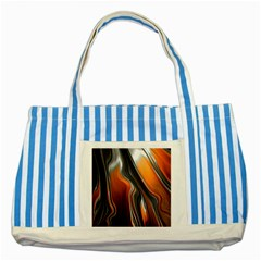Fractal Structure Mathematic Striped Blue Tote Bag