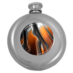 Fractal Structure Mathematic Round Hip Flask (5 oz)
