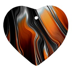 Fractal Structure Mathematic Heart Ornament (two Sides)