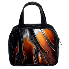 Fractal Structure Mathematic Classic Handbags (2 Sides)