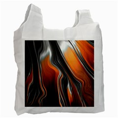 Fractal Structure Mathematic Recycle Bag (one Side)