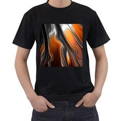Fractal Structure Mathematic Men s T Shirt (black)