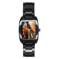 Fractal Structure Mathematic Stainless Steel Barrel Watch