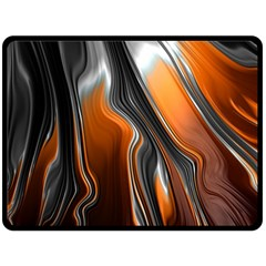 Fractal Structure Mathematic Double Sided Fleece Blanket (large)