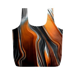 Fractal Structure Mathematic Full Print Recycle Bags (m)