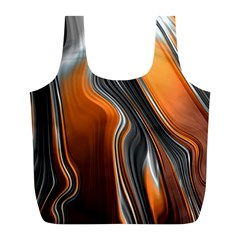 Fractal Structure Mathematic Full Print Recycle Bags (l)