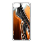 Fractal Structure Mathematic Apple iPhone 7 Seamless Case (White) Front