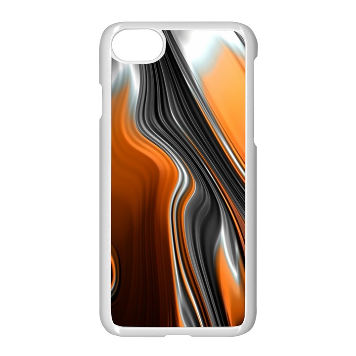 Fractal Structure Mathematic Apple iPhone 7 Seamless Case (White)