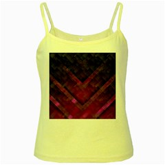 Purple Background Wallpaper Motif Design Yellow Spaghetti Tank