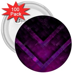 Purple Background Wallpaper Motif Design 3  Buttons (100 pack)